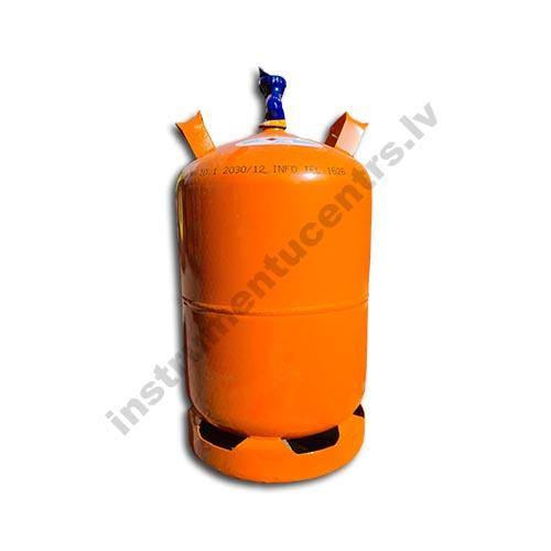 Propāna gāzes balons 11kg/26 litri, kreisā vītne 21,82 mm