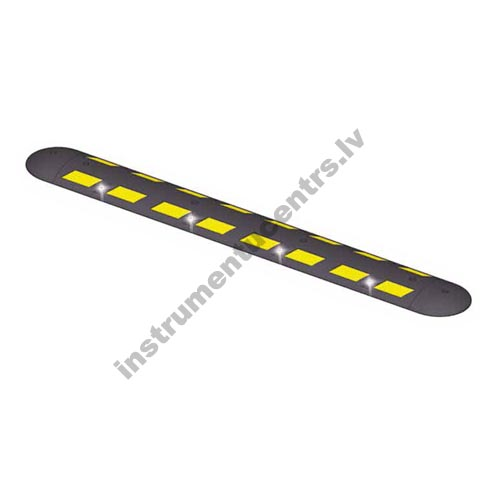 Rubber Speed Bumps (black/yelow) 2200x300x75 mm