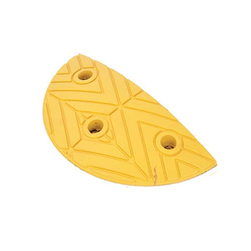 Rubber Speed Bumps Endcaps (yellow) 250x400x50 mm