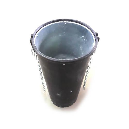 Būvgružu novadcaurule ar metāla loksnes stiprinājumu 1m plastmasas