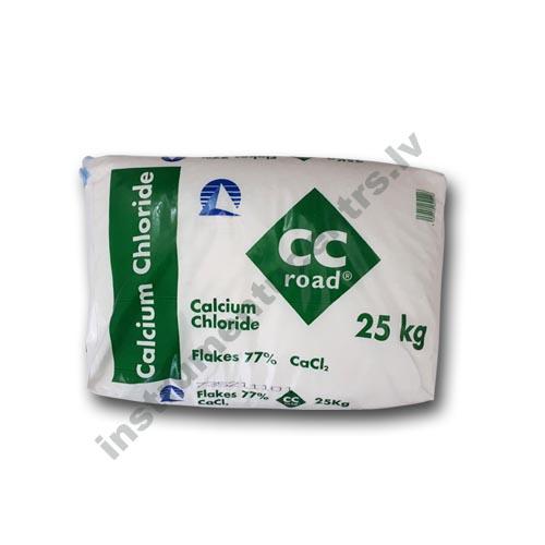 Kalcija hlorīds 77% (CaCl) ledus atkausētājs 25 kg