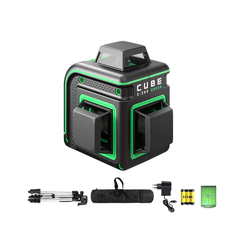 Laser level ADA CUBE 3-360 PROFESSIONAL EDITION (green beam)