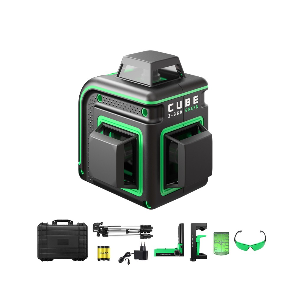 Laser level ADA CUBE 3-360 ULTIMATE EDITION Green beam