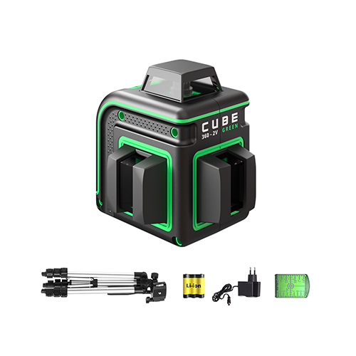 Laser level ADA CUBE 360 2V PROFESIONAL EDITION (green beam)