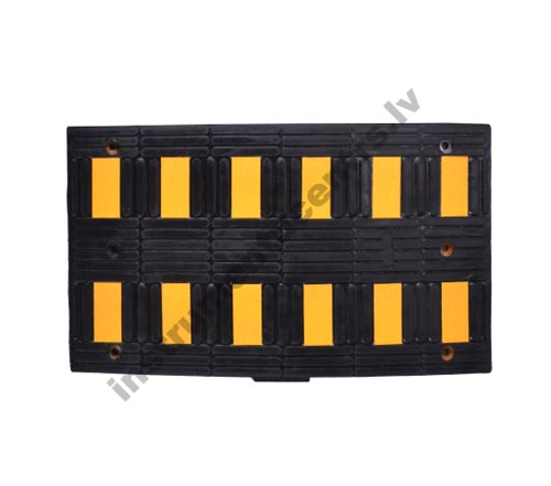 Rubber Speed Bumps (black/yellow) 895x495x50 mm