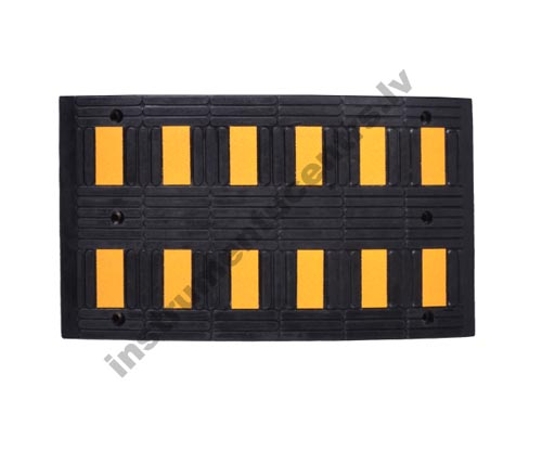 Rubber Speed Bumps (black/yellow) 940x495x70 mm