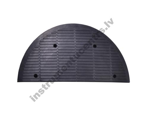 Rubber Speed Bumps Endcaps (black) 940x445x70 mm