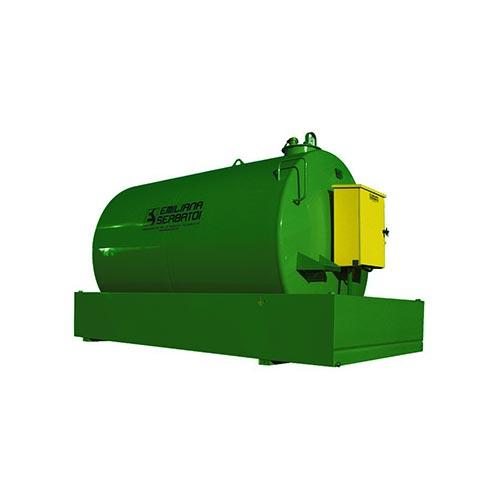 Degvielas tvertne metāla ar uztveršanas vannu 9000 litri