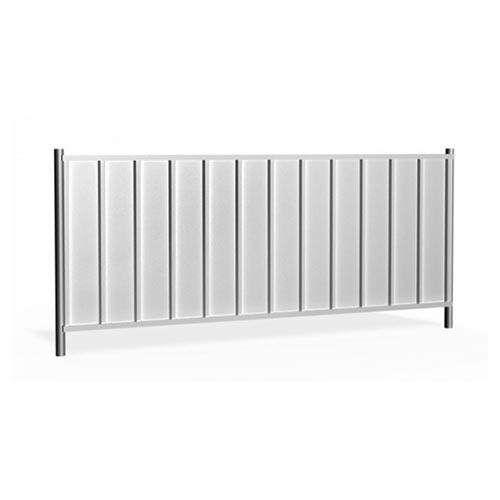 Hording panel 2.3m galvanized 15,2kg Low