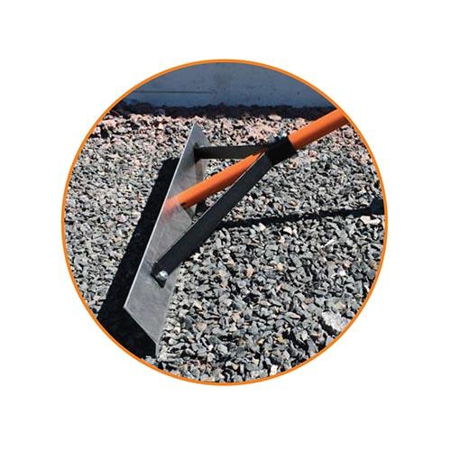 Asfalta līdzinātājs 720mm (kāts ar gumijas uzliku)