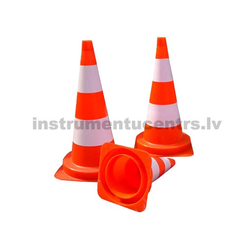 Cone 500mm, PVC, 2 white bands