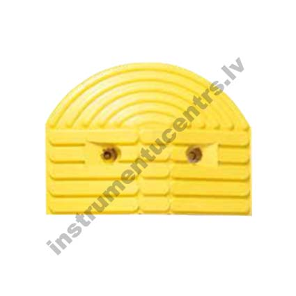 Rubber Speed Bumps Endcaps (yellow) 355x260x55 mm