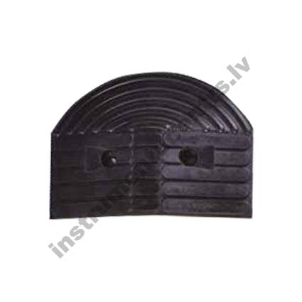 Rubber Speed Bumps Endcaps (black) 355x260x55 mm