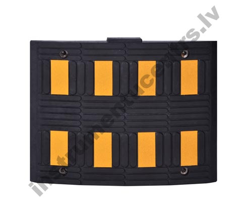 Rubber Speed Bumps (black/yellow) 600x500x50 mm