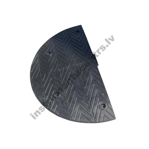 Rubber Speed Bumps Endcaps (black) 895x435x50 mm