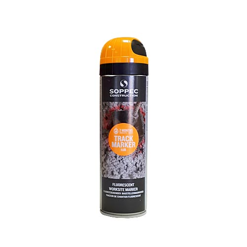Fluorescent spray paint Construction 500ml, orange