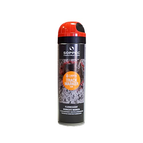 Fluorescent spray paint Construction 500ml, red
