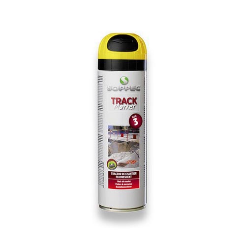 Fluorescent spray paint Track Marker 500ml, yellow